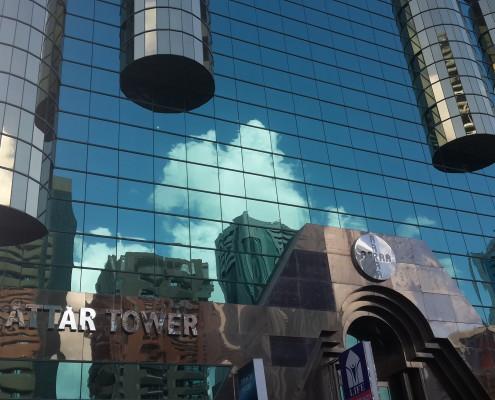 Al Attar Towers Entrance